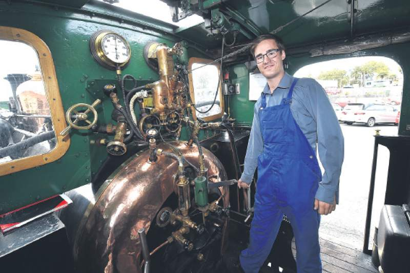 Steaming towards his rail ticket | The Gisborne Herald